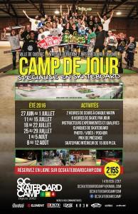 Camp de jour de skateboard à Québec été 2016